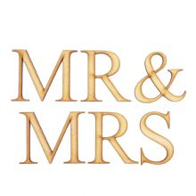 Mr & Mrs - Times New Roman - Laser Cut Wooden Craft Blank